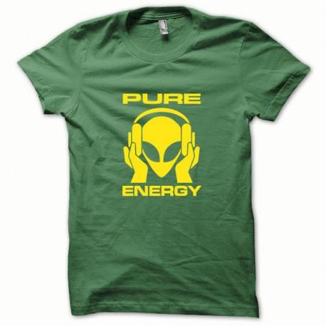 Tee shirt Pure Energy jaune/vert bouteille
