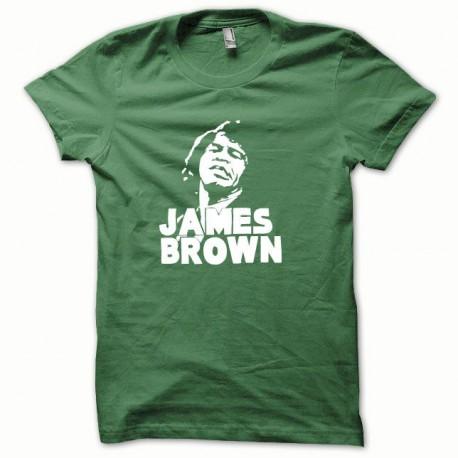 Tee shirt James Brown blanc/vert bouteille