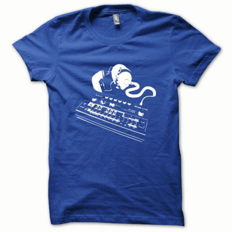 Tee shirt Roland TB-303 blanc/bleu royal