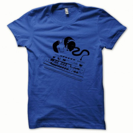 Tee shirt Roland TB-303 noir/bleu royal