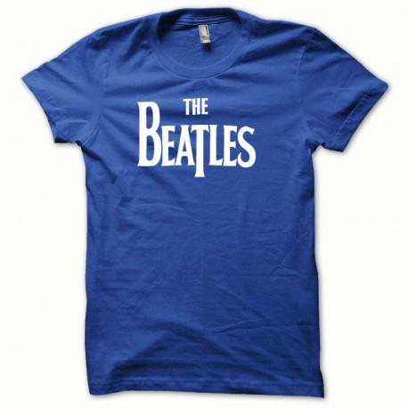 Tee shirt The beattles Blanc/Bleu Royal
