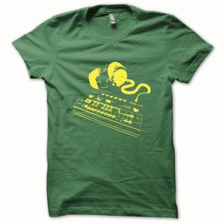 Tee shirt Roland TB-303 jaune/vert bouteille