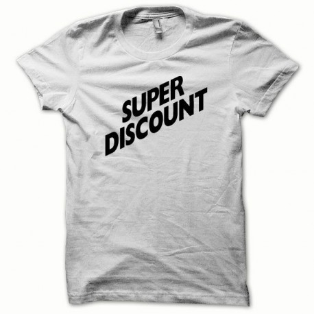 Tee shirt Super Discount blanc/noir