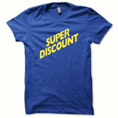 Tee shirt Super Discount jaune/bleu royal