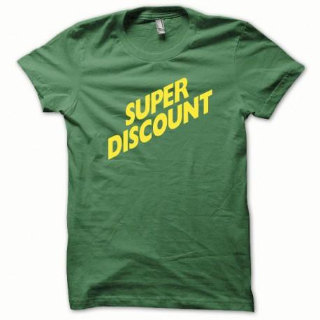 Tee shirt Super Discount jaune/vert bouteille