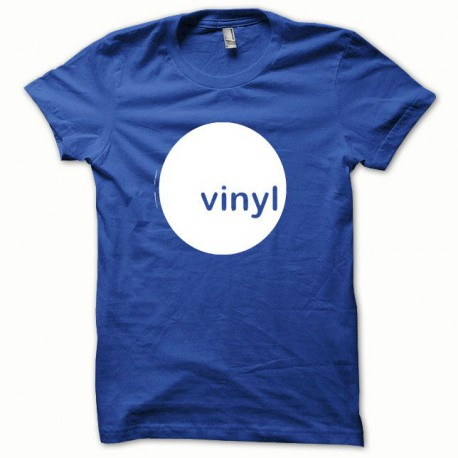Tee shirt Vinyl blanc/bleu royal