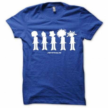 Tee shirt Jamiroquai blanc/bleu royal