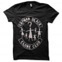club ciclón negro huérfano de camiseta