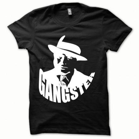 Tee shirt Gangster blanc/noir