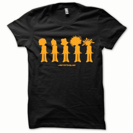 Tee shirt Jamiroquai orange/noir
