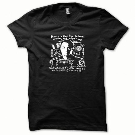 Tee shirt Sheldon Cooper blanc/noir