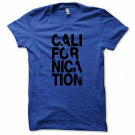 Tee shirt Californication collector noir/bleu royal