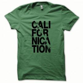 Tee shirt Californication version classic noir/vert bouteille
