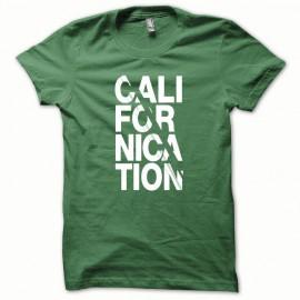 Camiseta blanca Californication / botella verde