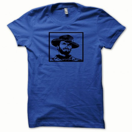 Tee shirt Clint Eastwood noir/bleu royal
