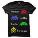camiseta más duro mejor más rápido más fuerte invasores del espacio