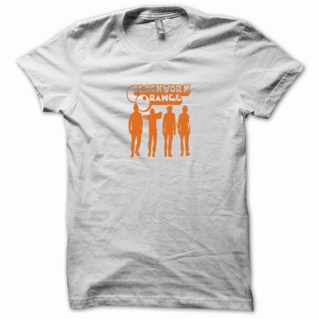 Tee shirt Clockwork Orange Mecanique orange / white