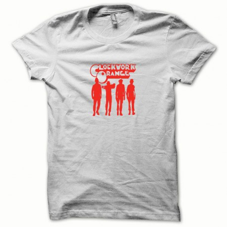 Tee shirt Clockwork Orange Mecanique rouge/blanc