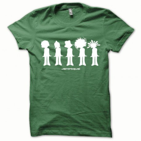 Tee shirt Jamiroquai blanc/vert bouteille