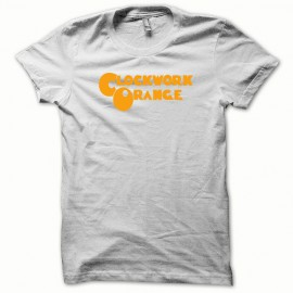 Tee shirt Clockwork Orange Mecanique kubrick orange/blanc