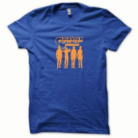 Tee shirt Clockwork Orange Mecanique stanley orange/bleu royal