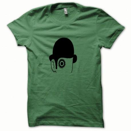 Tee shirt Clockwork Orange Mecanique noir/vert bouteille