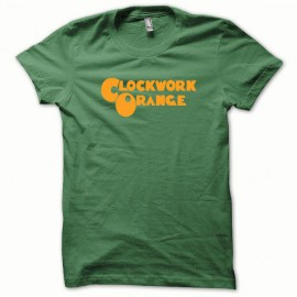 Tee shirt Clockwork Orange Mecanique version de base orange/vert bouteille