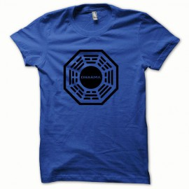 Tee shirt Dharma noir/bleu royal