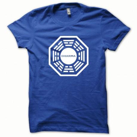 Tee shirt Dharma blanc/bleu royal