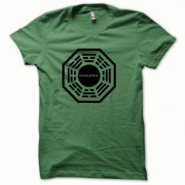 Shirt Dharma black / green bottle