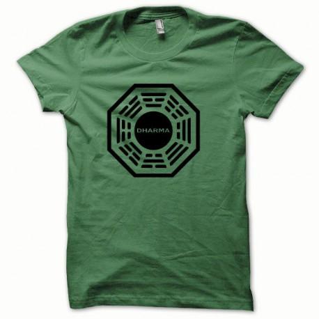Camisa Dharma negro / verde botella