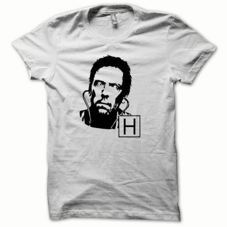 Tee shirt Dr Gregory House Hugh Laurie noir/blanc