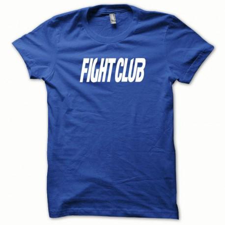 Tee shirt Fight Club blanc/bleu royal