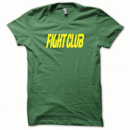 Tee shirt Fight Club jaune/vert bouteille