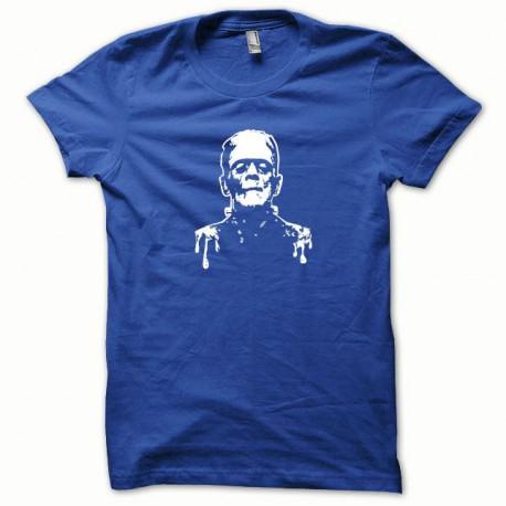 Tee shirt Frankenstein blanc/bleu royal