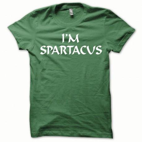 Tee shirt Spartacus blanc/vert bouteille