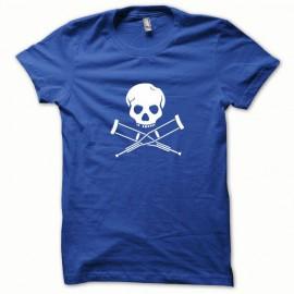 Tee shirt Jackass blanc/bleu royal
