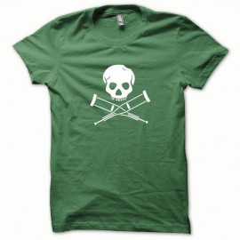 Camisa de Jackass frasco blanco / verde