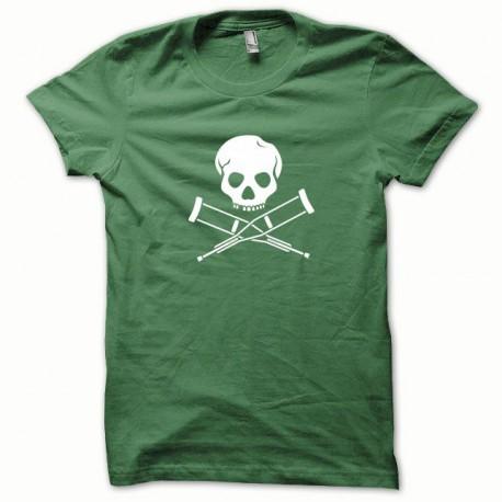 Tee shirt Jackass blanc/vert bouteille