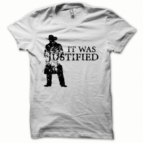 Tee shirt Justified noir/blanc