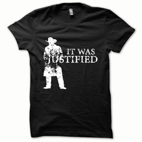 Tee shirt Justified blanc/noir