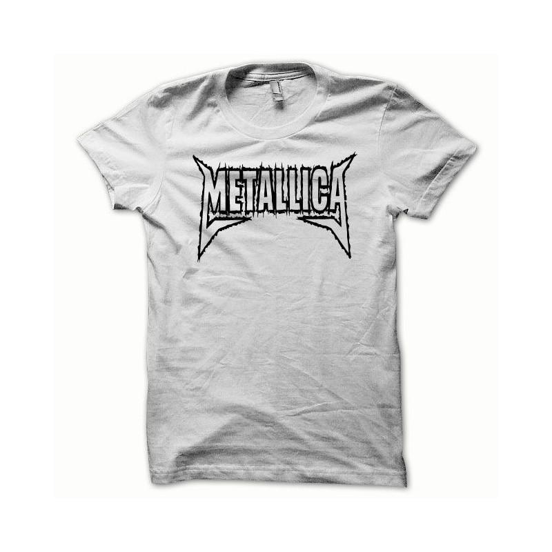 Metallica negro   blanco camiseta ... e7e23ac6ccd