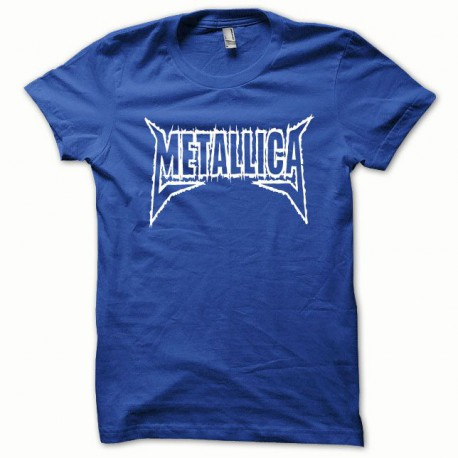 Tee shirt Metallica blanc/bleu royal