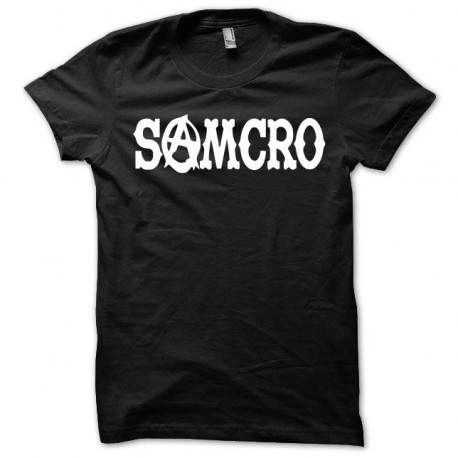 Tee shirt Samcro blanc/noir