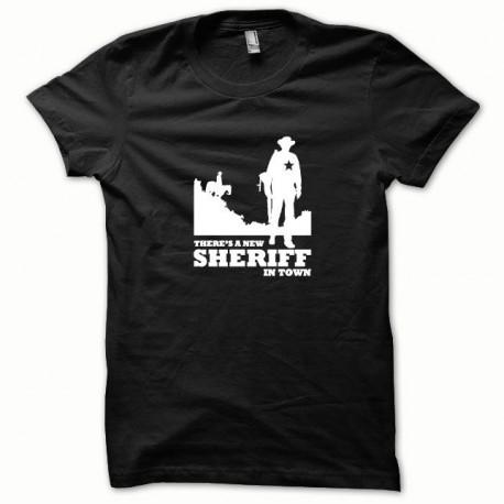 Tee shirt Sheriff blanc/noir