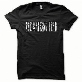 La serie T-shirt Walking Dead como blanco / negro