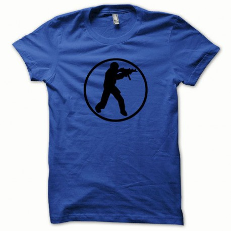 Tee shirt Counter Strike noir/bleu royal