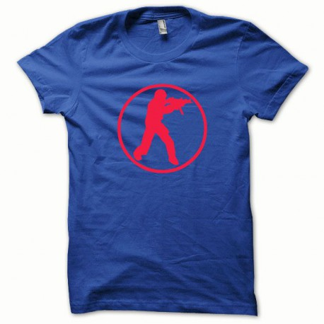 Tee shirt Counter Strike rouge/bleu royal