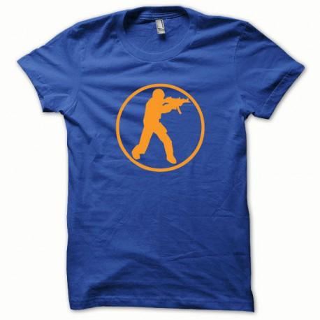 Tee shirt Counter Strike orange/bleu royal