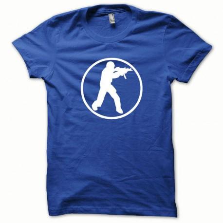 Tee shirt Counter Strike blanc/bleu royal